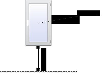 одностворчатое стандартное окно
