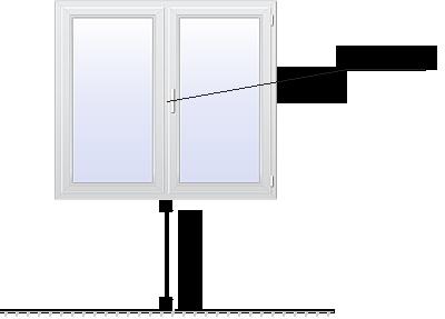 двухстворчатое стандартное окно