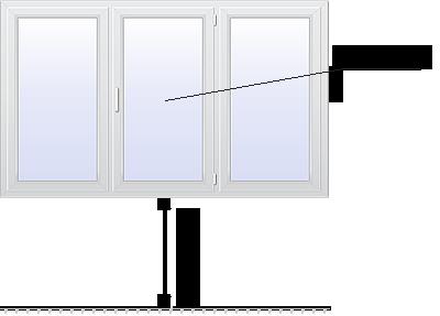 трехстворчатое стандартное окно